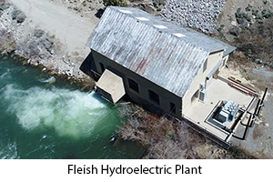 Arial Shot of the Fleish Hydroelectric Plant