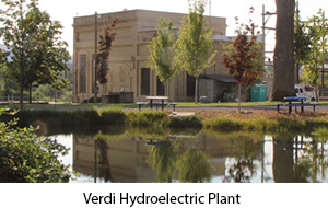 Photo of the Verdi Hydroelectric Plant